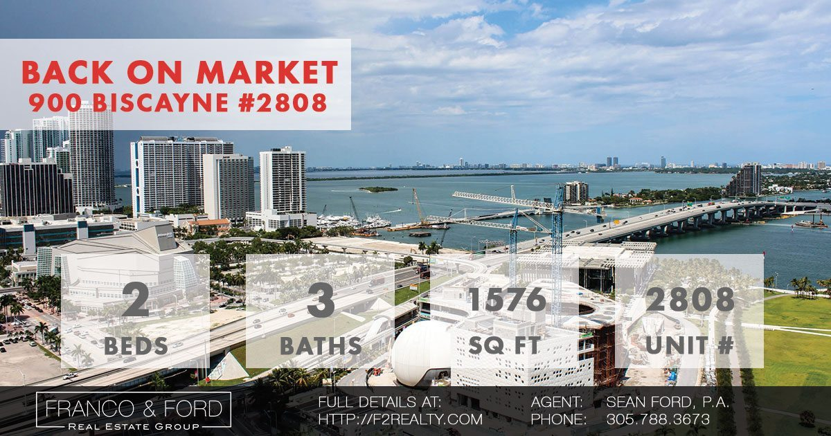 Back on the Market: 900 Biscayne Condo with View of Biscayne Bay